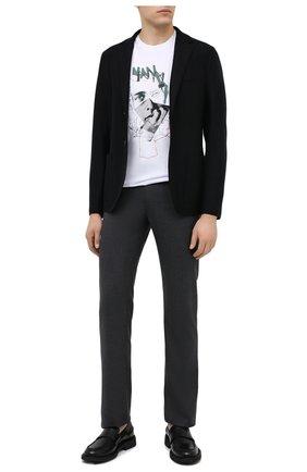 Мужской шерстяной пиджак HARRIS WHARF LONDON черного цвета, арт. C8B22MLX   Фото 2