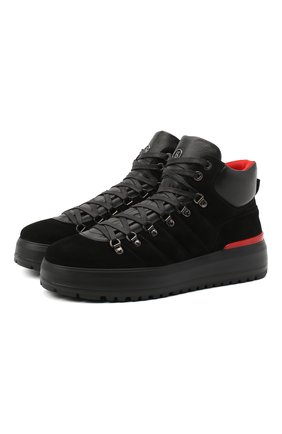 Мужские замшевые ботинки BOGNER черного цвета, арт. 103-4555/ANTWERP M 4B | Фото 1