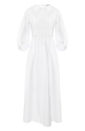 Женское хлопковое платье CECILIE BAHNSEN белого цвета, арт. PF20-0013 | Фото 1