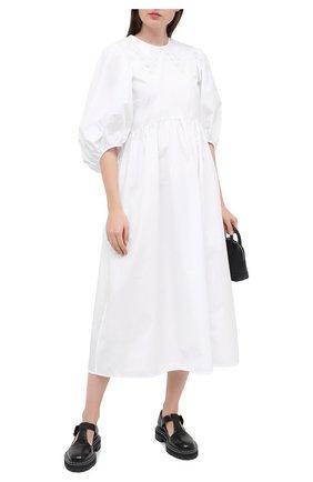 Женское хлопковое платье CECILIE BAHNSEN белого цвета, арт. PF20-0013 | Фото 2