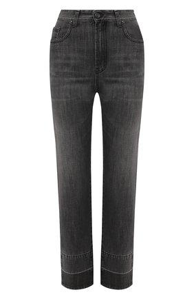 Женские джинсы PALM ANGELS темно-серого цвета, арт. PWYA011F20DEN0010701 | Фото 1