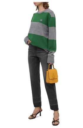 Женские джинсы PALM ANGELS темно-серого цвета, арт. PWYA011F20DEN0010701 | Фото 2