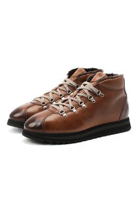 Мужские кожаные ботинки DOUCAL'S коричневого цвета, арт. DU1792WINNUM1882M04 | Фото 1