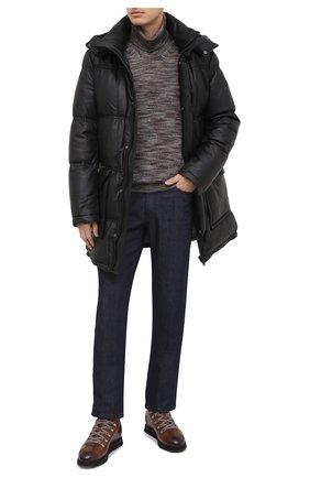 Мужские кожаные ботинки DOUCAL'S коричневого цвета, арт. DU1792WINNUM1882M04 | Фото 2