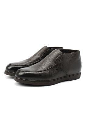 Мужские кожаные ботинки DOUCAL'S темно-коричневого цвета, арт. DU2654ED0-UM019TM00   Фото 1