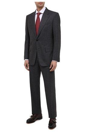 Мужские кожаные монки DOUCAL'S темно-коричневого цвета, арт. DU2750RYANUF194TM02 | Фото 2