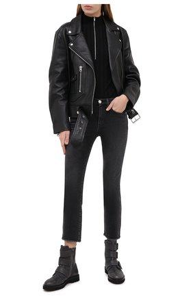 Женские джинсы 3X1 серого цвета, арт. W3SAC0966/DEMAR TEAR | Фото 2