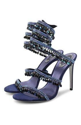 Женские босоножки chandelier RENE CAOVILLA фиолетового цвета, арт. C10182-105-R001X729 | Фото 1