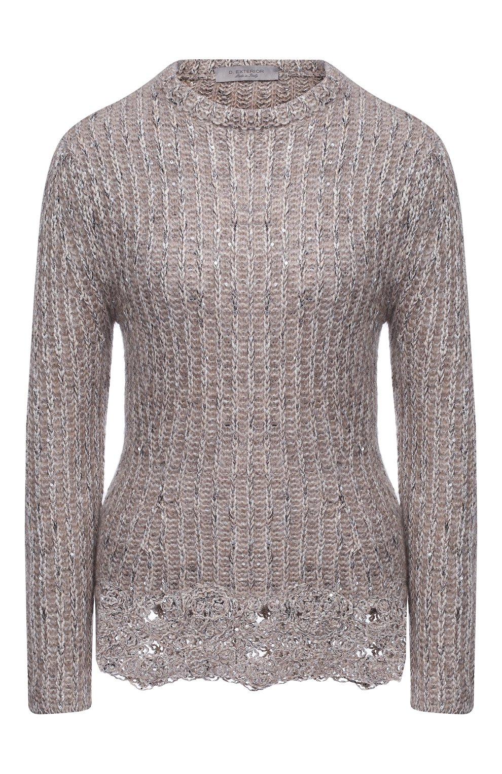 Женский пуловер D.EXTERIOR светло-серого цвета, арт. 51706 | Фото 1
