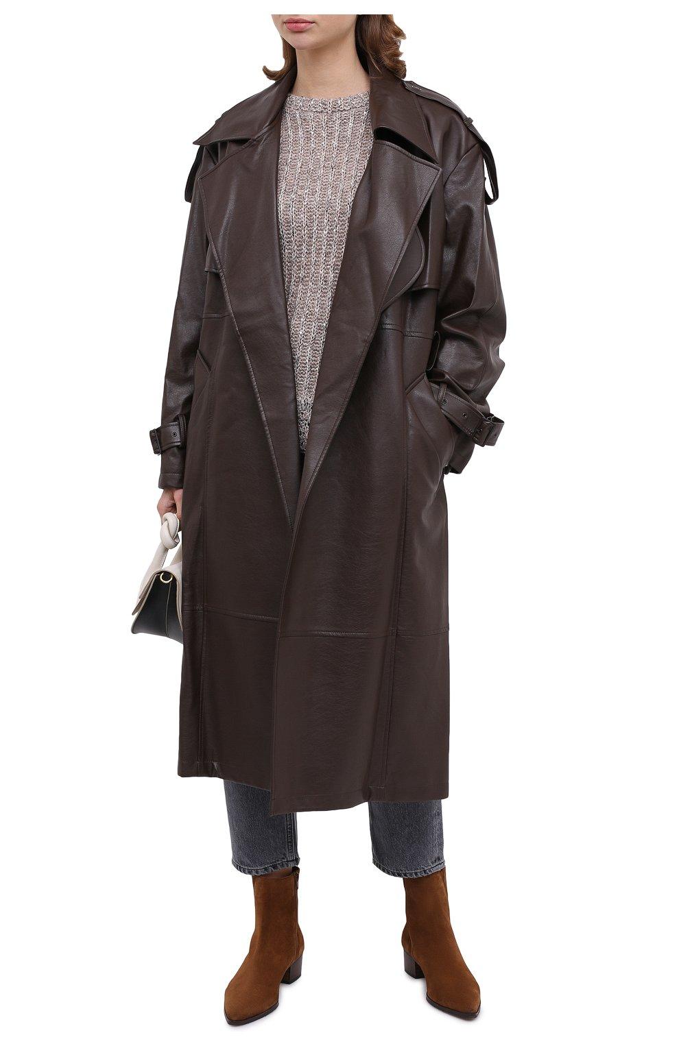 Женский пуловер D.EXTERIOR светло-серого цвета, арт. 51706 | Фото 2