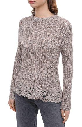 Женский пуловер D.EXTERIOR светло-серого цвета, арт. 51706 | Фото 3