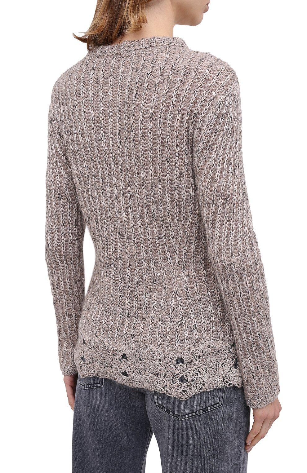 Женский пуловер D.EXTERIOR светло-серого цвета, арт. 51706 | Фото 4
