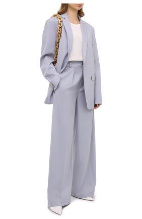 Женские шерстяные брюки LESYANEBO голубого цвета, арт. FW20/Н-412 | Фото 2
