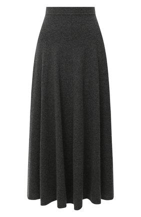 Женская кашемировая юбка TEGIN серого цвета, арт. 3723   Фото 1