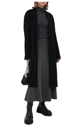 Женская кашемировая юбка TEGIN серого цвета, арт. 3723   Фото 2