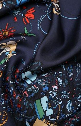 Женский шелковый платок SALVATORE FERRAGAMO синего цвета, арт. Z-0735107 | Фото 2