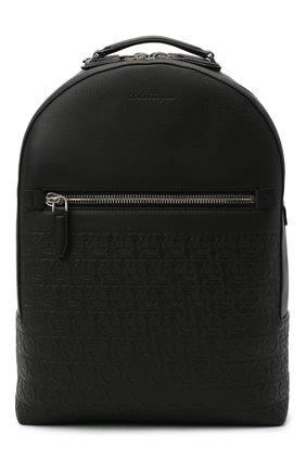 Мужской кожаный рюкзак SALVATORE FERRAGAMO черного цвета, арт. Z-0733145 | Фото 1
