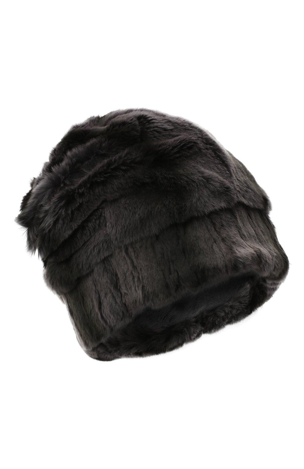 Мужская шапка из меха колонка FURLAND серого цвета, арт. 0105108150105200000 | Фото 1