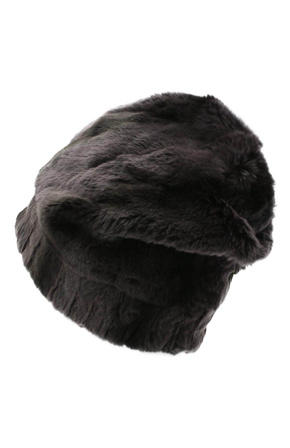 Мужская шапка из меха колонка FURLAND серого цвета, арт. 0105108150105200000 | Фото 2