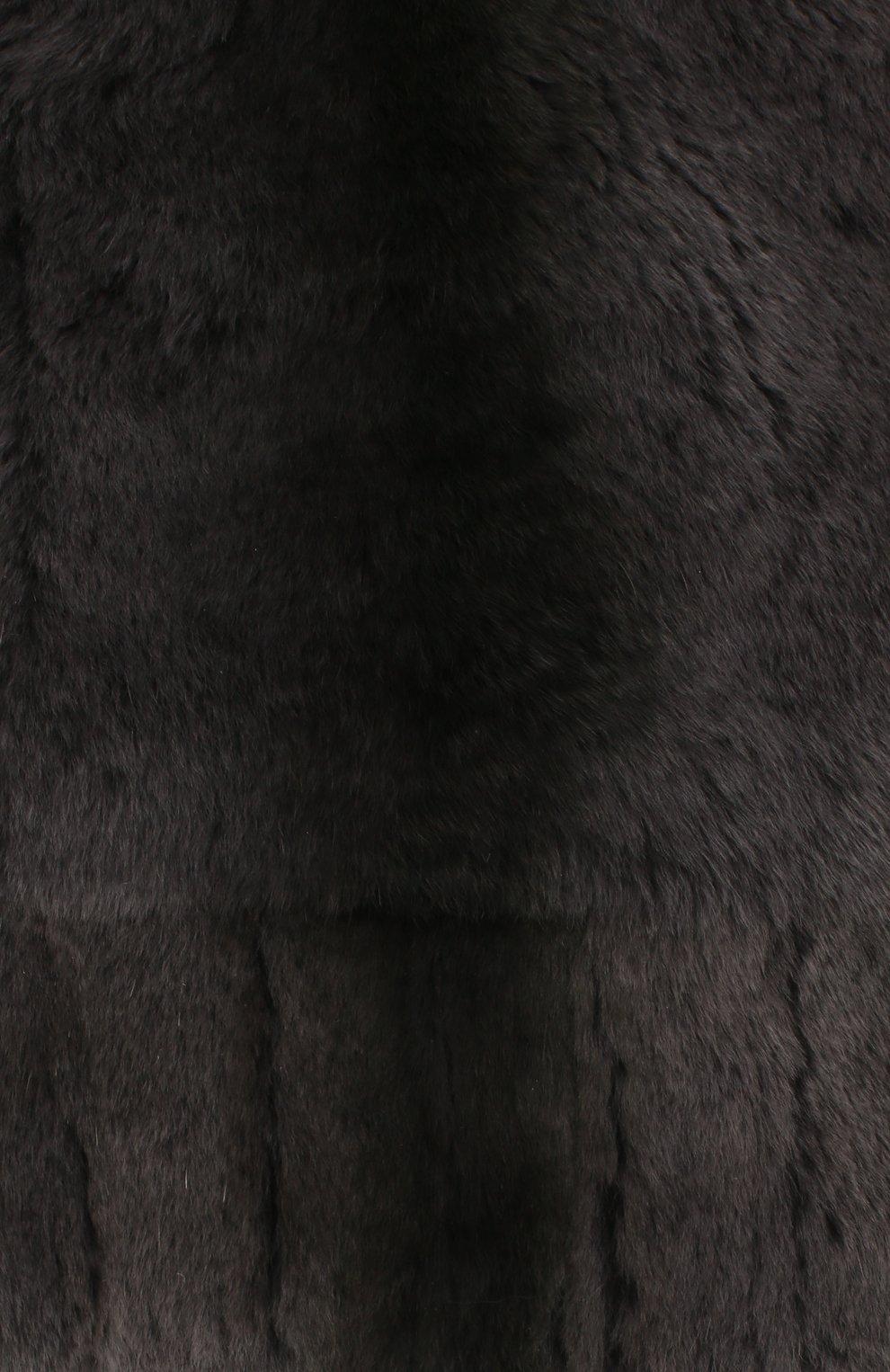 Мужская шапка из меха колонка FURLAND серого цвета, арт. 0105108150105200000 | Фото 3