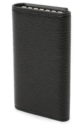 Мужская кожаный футляр для ключей SALVATORE FERRAGAMO черного цвета, арт. Z-0722641 | Фото 2