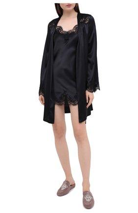 Женская сорочка I.D. SARRIERI черного цвета, арт. L3020 | Фото 2
