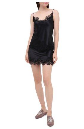 Женская юбка I.D. SARRIERI черного цвета, арт. L3000 | Фото 2