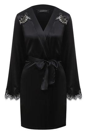 Женский халат I.D. SARRIERI черного цвета, арт. L3061 | Фото 1