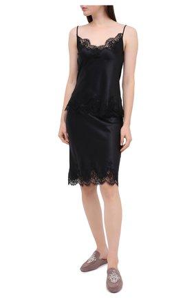 Женская юбка I.D. SARRIERI черного цвета, арт. L3050 | Фото 2