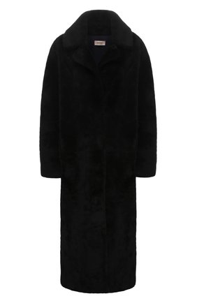 Женская шуба из овчины METEO YVES SALOMON черного цвета, арт. 9WMM61820MERC | Фото 1