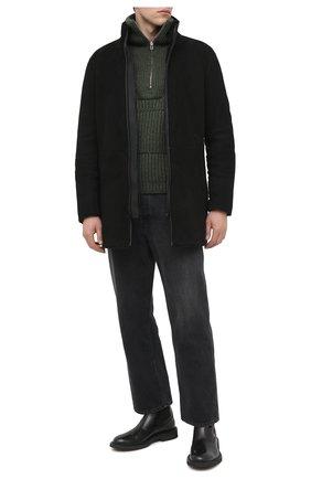 Мужская дубленка EMPORIO ARMANI черного цвета, арт. 91L01P/91P20 | Фото 2