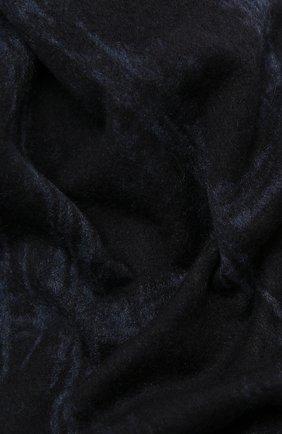 Мужской шелковый шарф ERMENEGILDO ZEGNA темно-синего цвета, арт. Z8L21/28D | Фото 2