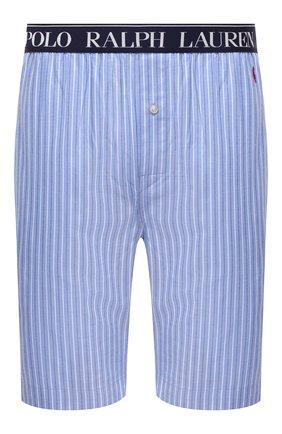 Мужские хлопковые домашние шорты POLO RALPH LAUREN синего цвета, арт. 714804203 | Фото 1