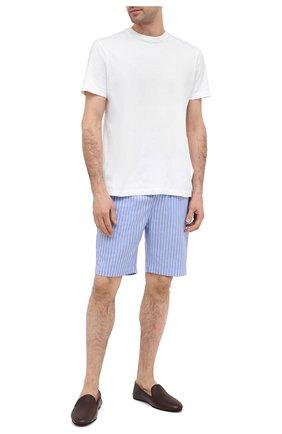 Мужские хлопковые домашние шорты POLO RALPH LAUREN синего цвета, арт. 714804203 | Фото 2
