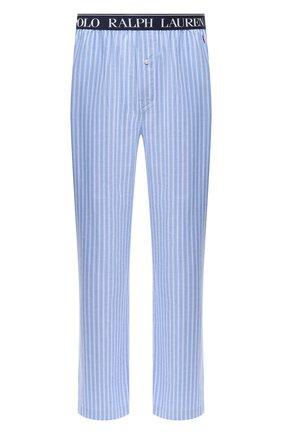 Мужские хлопковые домашние брюки POLO RALPH LAUREN синего цвета, арт. 714804202 | Фото 1