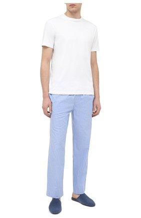 Мужские хлопковые домашние брюки POLO RALPH LAUREN синего цвета, арт. 714804202 | Фото 2