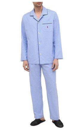 Мужская хлопковая пижама POLO RALPH LAUREN синего цвета, арт. 714753028 | Фото 1
