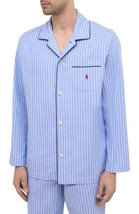 Мужская хлопковая пижама POLO RALPH LAUREN синего цвета, арт. 714753028 | Фото 2