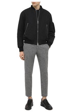 Мужские кожаные кроссовки TOD'S черного цвета, арт. XXM69A0Z282DVR | Фото 2
