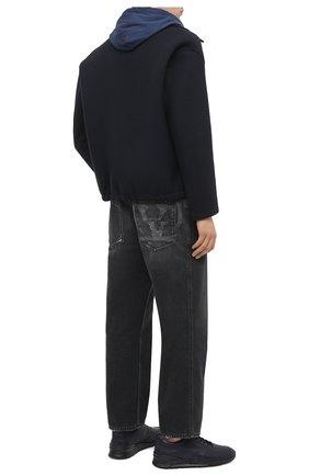 Мужские кожаные кроссовки TOD'S темно-синего цвета, арт. XXM69A0Z282DVR   Фото 2