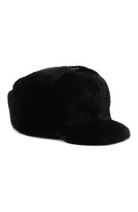 Мужская кепка их меха норки FURLAND черного цвета, арт. 0008302110131600609 | Фото 1