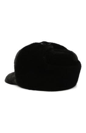 Мужская кепка их меха норки FURLAND черного цвета, арт. 0008302110131600609 | Фото 2