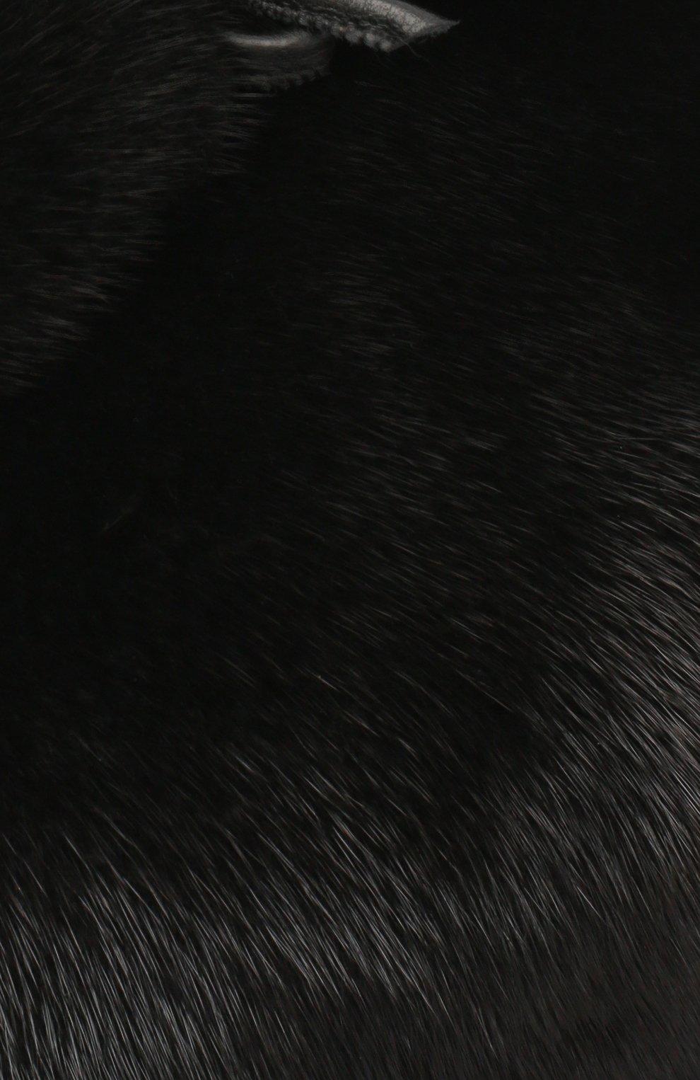 Мужская кепка их меха норки FURLAND черного цвета, арт. 0008302110131600609 | Фото 3
