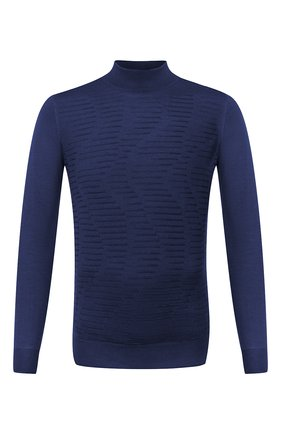 Мужской водолазка из кашемира и шелка ZILLI синего цвета, арт. MBU-CH083-VAWA1/ML01 | Фото 1 (Рукава: Длинные; Стили: Кэжуэл, Классический; Материал внешний: Шелк, Шерсть; Мужское Кросс-КТ: Водолазка-одежда; Принт: Без принта; Длина (для топов): Стандартные)