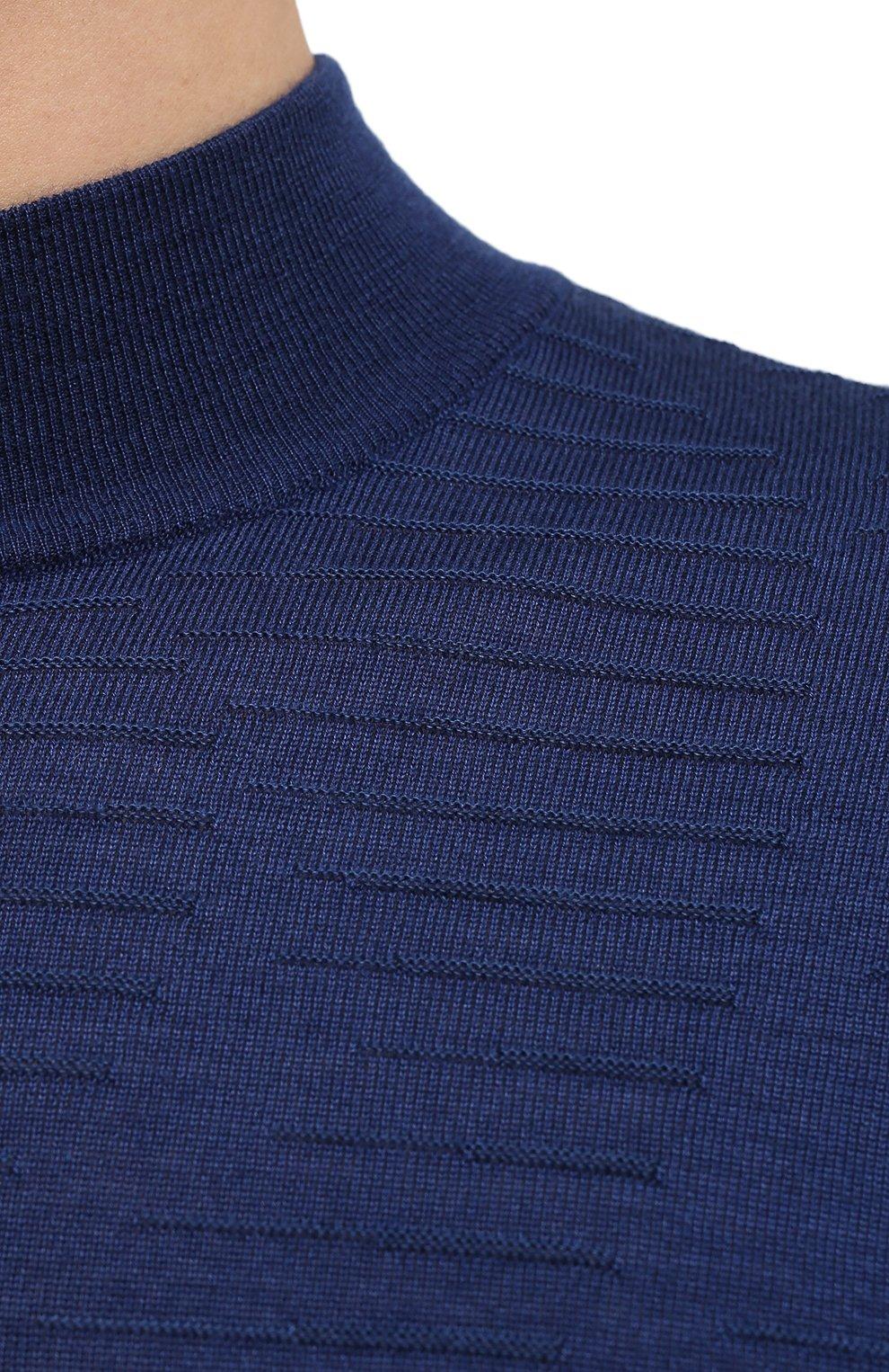 Мужской водолазка из кашемира и шелка ZILLI синего цвета, арт. MBU-CH083-VAWA1/ML01   Фото 6