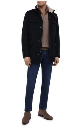 Мужские джинсы ZILLI синего цвета, арт. MCU-00030-EUDE1/R001 | Фото 2