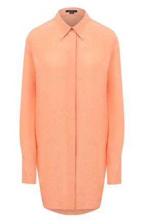 Женская шелковая рубашка JOSEPH оранжевого цвета, арт. JF005094 | Фото 1
