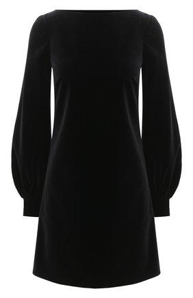 Женское хлопковое платье GUCCI черного цвета, арт. 642547/ZJV75   Фото 1