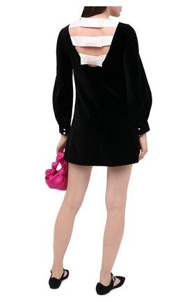 Женское хлопковое платье GUCCI черного цвета, арт. 642547/ZJV75   Фото 2