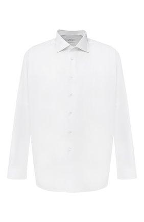 Мужская хлопковая сорочка BRIONI белого цвета, арт. RCL40P/P806N | Фото 1